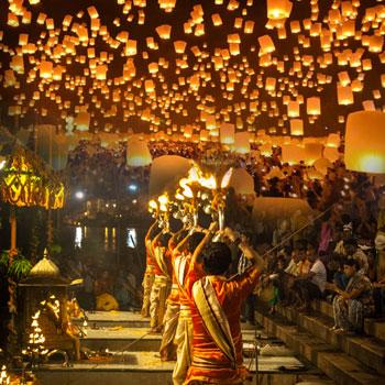 Índia com Festival das Luzes