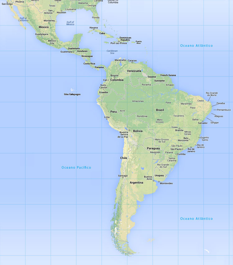 mapa america do sul e central Mapa América do Sul   Scan Suisse mapa america do sul e central