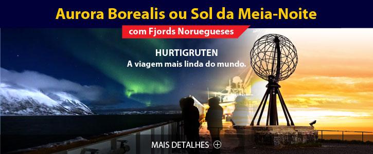 Hurtigruten Aurora Boreal ou Sol da Meia-Noite