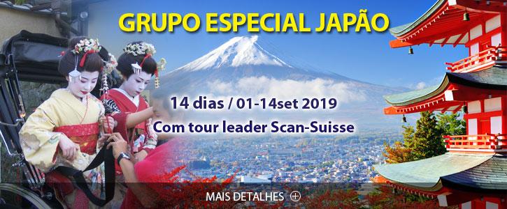 Destaques e Viagens Especiais Japão Grupo Especial Scan-Suisse 2019