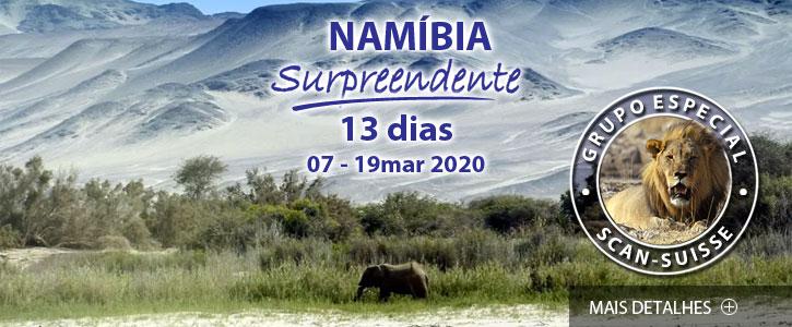 Destaques e Viagens Especiais Namíbia Surpreendente Scan-Suisse 2020