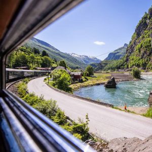 Flaam Railway Window